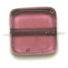 Fire polished 8X8mm Square Amethyst Lamp/window Beads
